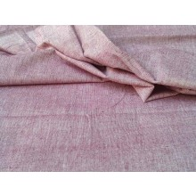 Organic Cotton Two Tone Fabric - Burgundy & Light