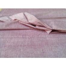 Organic Cotton Two Tone  Fabric - Pink & Ecru