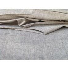 Organic Cotton Two Tone  Fabric - Grey