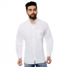 Men's Organic Cotton  Winter Shirt with Grandad Collar