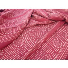 Organic Cotton Fabric - Block Printed - Mandala Stripes
