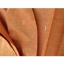 Organic Cotton Two Tone Fabric - Autumn Embroidered