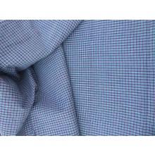 Organic Cotton Plaid Fabric - Mauve & Blue