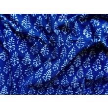 Organic Cotton Indigo Block Printed Fabric