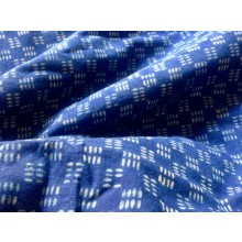 Organic Cotton Indigo Block Print Fabric