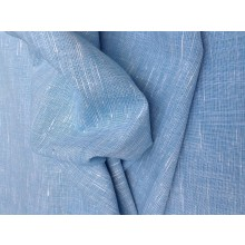 Organic Cotton Slub Fabric - Sky Blue