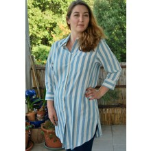 Organic Cotton Women's Long Shirt Dress