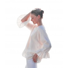 Organic Cotton  Tunic with Frills at Hem & Sleeves
