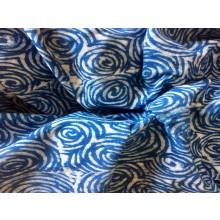 Organic Cotton Fabric - Indigo & White Roses