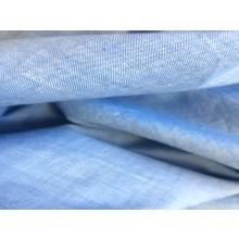 Organic Cotton Two Tone Fabric - Sky Blue & White