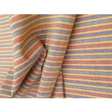 Organic Cotton Striped Fabric - Multicoloured