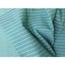 Organic Cotton Striped Fabric - Greens