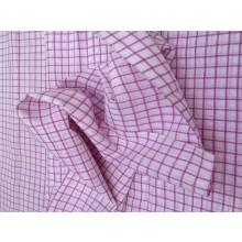 Organic Cotton Fabric - White & Pink Plaid
