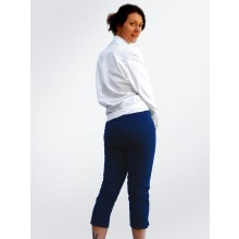 Organic Cotton Trousers with Side Zip available in White & Indigo
